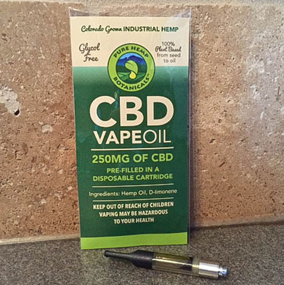 250mg CBD Vape Oil Cartridge