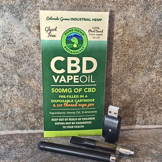 CBD Oil Vape Pen - 500mg CBD Vape Oil Cartridge & Pen