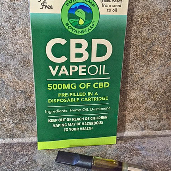 500mg CBD Vape Oil Cartridge