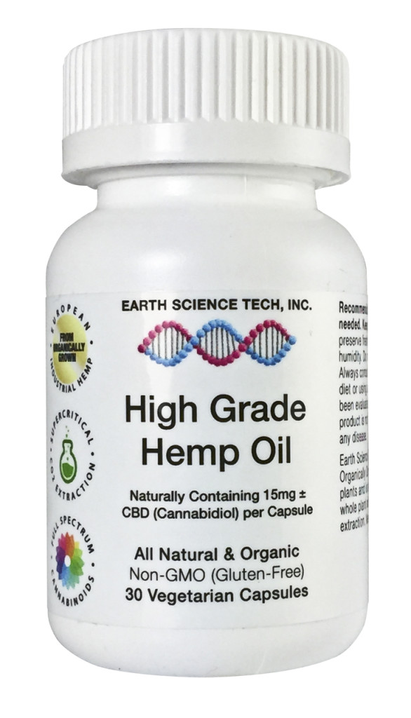 Earth Science Tech High Grade Hemp CBD Oil Capsules